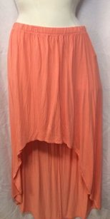 Forever 21 21 Peach Hi Low Hem Maxi Skirt