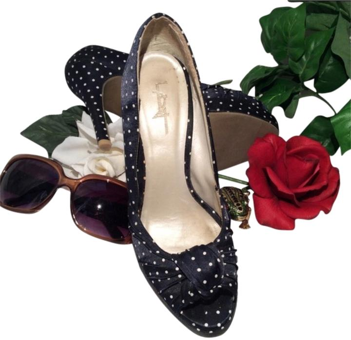 ca4bb6735c9 Forever 21 Navy White Polka-dots Pumps Size Size Size US 7 Regular ...