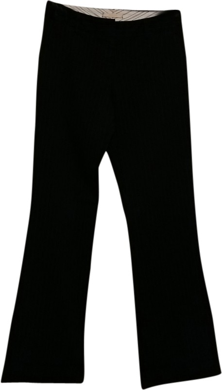Forever 21 Black with Pinstripes Flared Pants Size 4 (S ...