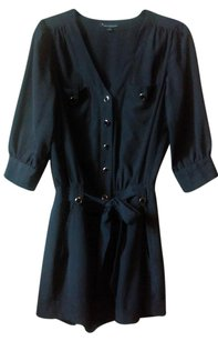 Forever 21 Romper Casual Belted Longsleeve Playsuit Shorts Black