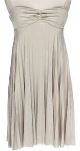 Forever 21 short dress Beige Sleeveless Pleated on Tradesy