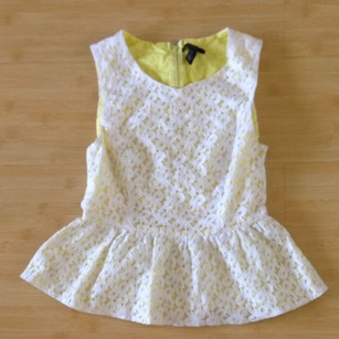 Forever 21 Top White Lace