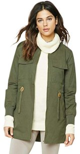 Forever 21 Utility Army Green Military Jacket