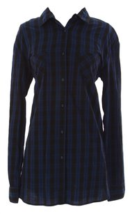 Fornarina Womens Forn_shi_jillian_blue_s Button Down Shirt