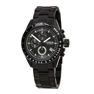 Fossil Fossil Chronograph Black Ion-plated Mens Watch Ch2601 Crown Broken