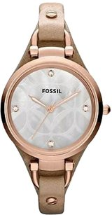 Fossil Fossil Georgia Tan Leather Ladies Watch Es3151