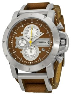 Fossil FOSSIL Jake Chronograph Brown Leather Strap Men's Watch FSJR1157