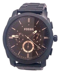 Fossil Fossil Machine Chronograph Black Stainless Steel Mens Watch Fs4682