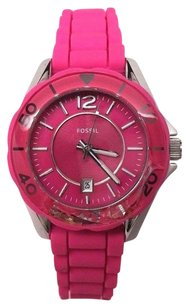 Fossil Fossil Riley Mini Pink Silicone Ladies Watch Es2935