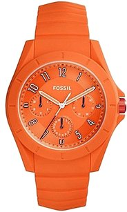 Fossil Fossil Fs5217 Poptastic Sport Orange Silicone Multifunction 44mm Watch