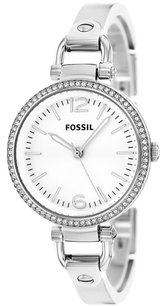 Fossil Fossil Women's ES3225 Georgia Glitz Silver-Tone Stainless Steel Watch with Stainless Steel Bracelet
