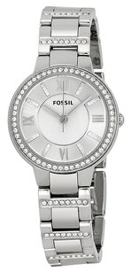 Fossil Fossil Women's ES3282 Virginia Three Hand Stainless Steel Watch - Silver-Tone