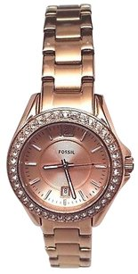 Fossil Fossil Womens Riley Es2889 Rose Gold Stainless Steel Analog Quartz Watch