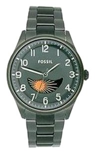 Fossil Men's Black Fossil The Agent Moonphase Watch