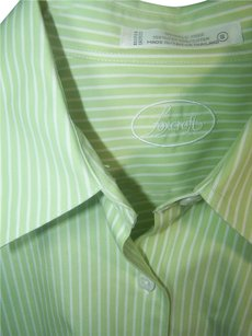 Foxcroft Button Down Shirt green white vertical