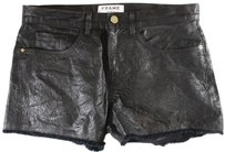 Frame Denim 27 Black Crinkled Is Shorts
