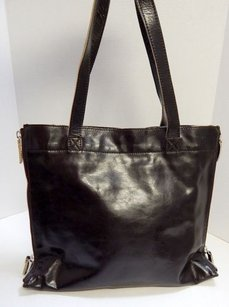 Francesco Biasia Leather Expandable Italy Tote in Brown