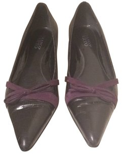 Franco Sarto Black with purple bow Pumps