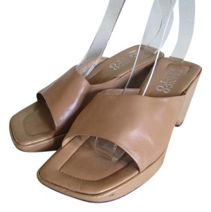 Franco Sarto Leather Lined Leather Uppers BEIGE Sandals