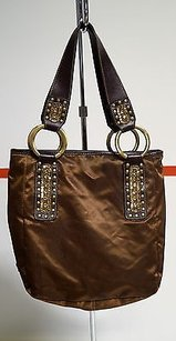Franco Sarto Brown Metallic Shoulder Bag