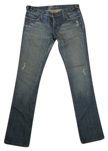 Frankie B Rag Factory Straight Leg Jeans-Medium Wash