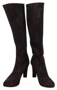 Fratelli Rossetti Womens Suede Leather Knee High Block Heel Brown Boots