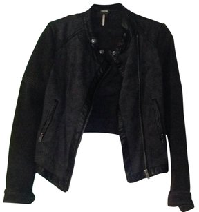 Free People Blac Leather Jacket