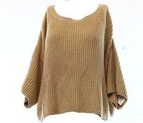 Free People Beige Knitted Sweater