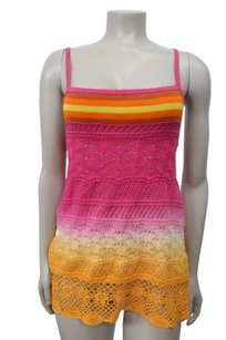 Free People Colorful Dip Dye Ombre Top Multi-Color