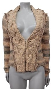 Free People People Cable Knit Hook Closure Cardigan Long Sleeve Xstp Sweater