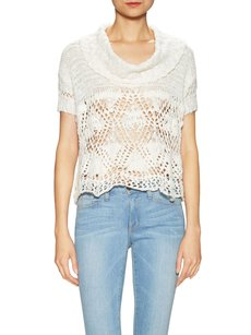 Free People Crochet Cowl Neck Sweater