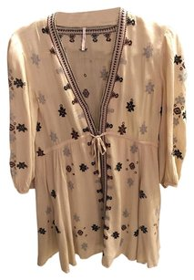 Free People short dress Beige Black on Tradesy