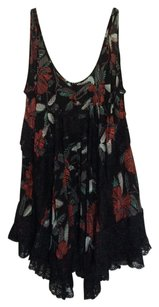 Free People short dress Black with multicolored design on Tradesy