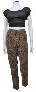 Free People People Paisley Bold Print Stretch Pants