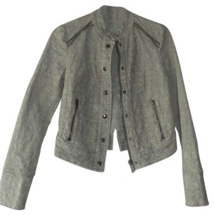 Free People Faux Leather Crop Army Vintage Motorcycle Jacket