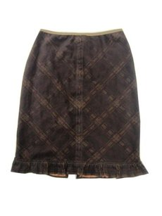 Free People And Skirt Navy Brown
