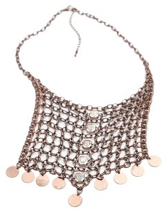 Free People Free People Chainmail Collar Necklace Copper