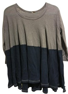 Free People T Shirt Grey Blue