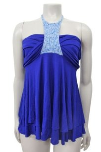 Free People The Solid Warrior By Royal blue Halter Top