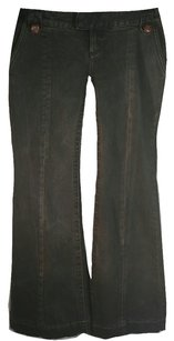 Free People Hip-hugging Flare Leg Jeans-Dark Rinse