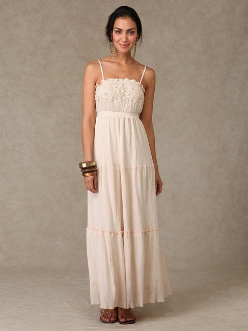 Ivory Maxi Dress by Free People Boho Maxi