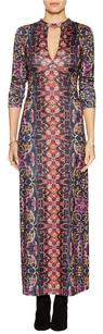 Free People Keyhole Abstract Print Dress