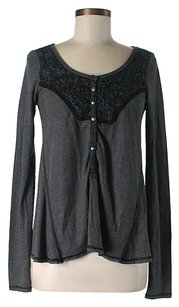 Free People Longsleeve Lace Trim Thermal Tunic