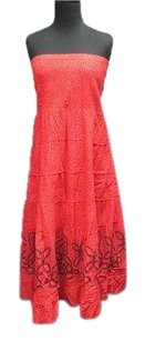 Red Maxi Dress by Free People Cotton Floral