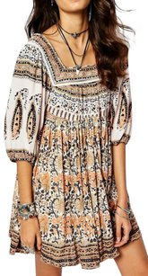 Free People short dress Paisley Print Bohemian Tunic Shift on Tradesy
