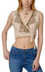 Free People Needlepoint Embroidery Top NWT Pearl