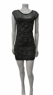 Free People People Black Lurex Starlight Bodycon P Dress