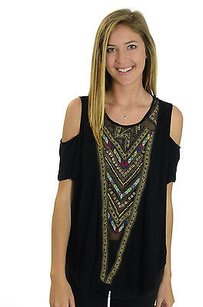 Free People Nwt Gypsy Spell Top Black