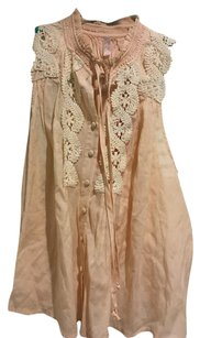 Free People Top Pink Peach