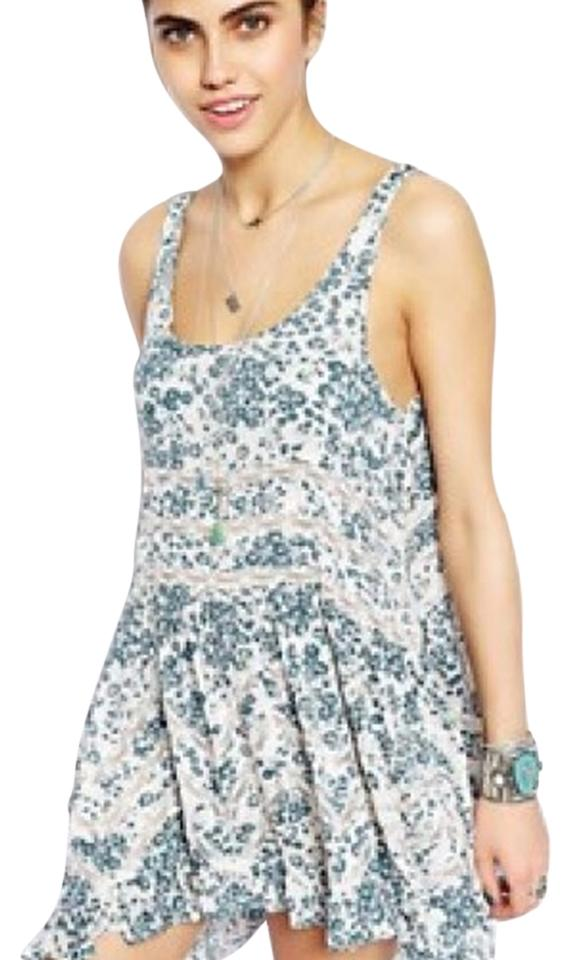 Free people Trapeze slip Dress printed floral dress